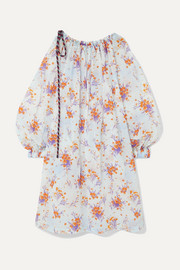 Dries Van Noten Cutout floral-print crinkled-taffeta dress