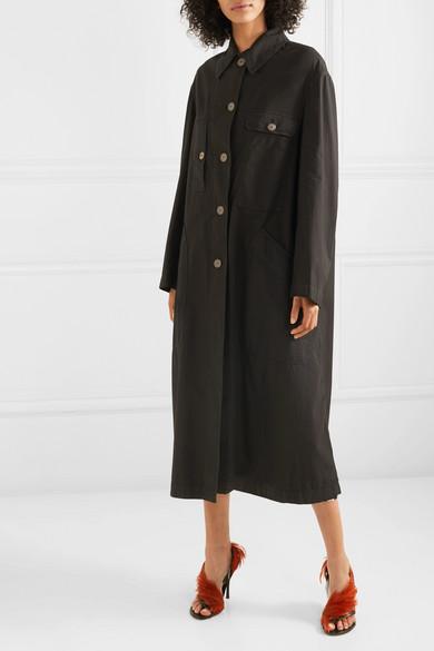Dries Van Noten Coats Oversized cotton-blend coat