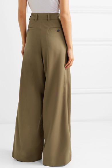 Dries Van Noten Pants Pleated wool wide-leg pants