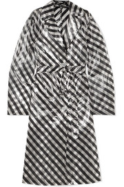 Dries Van Noten Striped organza trench coat