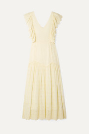 LoveShackFancy Cressida ruffled broderie anglaise cotton maxi dress