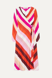 Diane von Furstenberg Tilly silk crepe de chine wrap dress