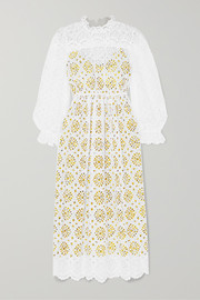 Leandra broderie anglaise cotton maxi dress