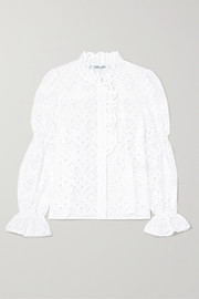 Rosalyn broderie anglaise cotton blouse