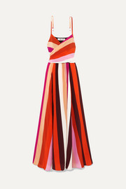 Diane von Furstenberg Azalea striped silk crepe de chine maxi dress