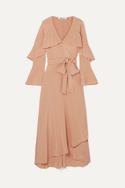 Diane von Furstenberg Isla ruffled silk crepe de chine wrap dress