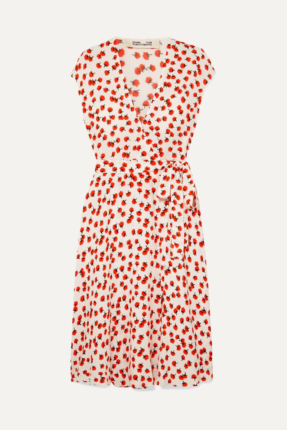 Diane von Furstenberg | Goldie floral-print crepe wrap dress | NET-A-PORTER.COM