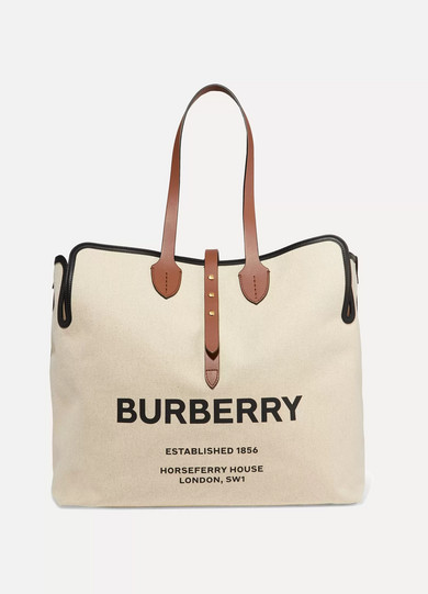 9c1521c3aece9 Burberry   Belt large leather-trimmed logo-print canvas tote    NET-A-PORTER.COM