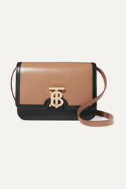 TB two-tone leather shoulder bag