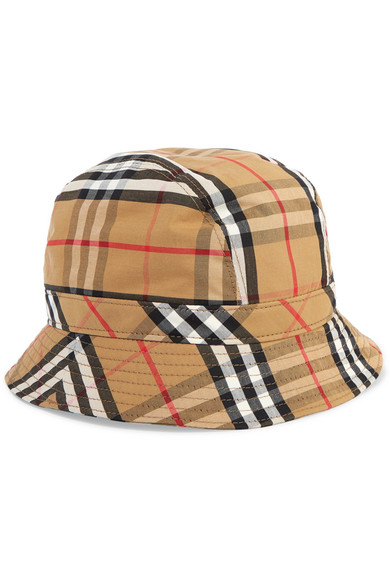 Burberry. Checked cotton-canvas bucket hat 6bc5509415