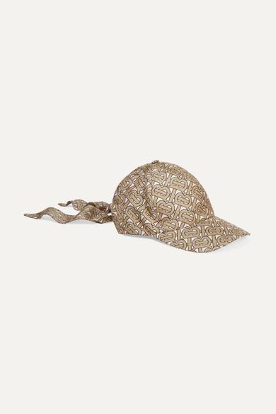 1bda5cace23af Burberry | Printed silk-satin baseball cap | NET-A-PORTER.COM