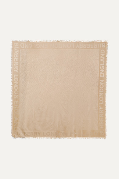 Burberry Accessories Silk and wool-blend scarf