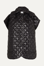Burberry Appliquéd quilted glossed-shell cape