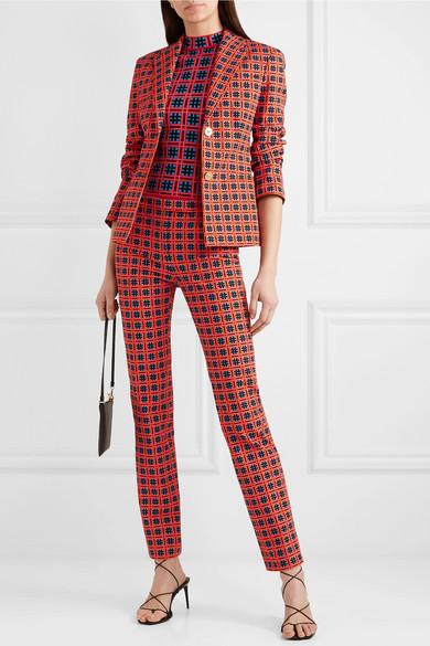 VERSACE Downs Printed cotton-twill blazer