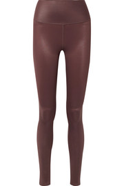 Airbrush metallic stretch leggings