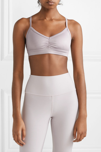 3d414822ee Alo Yoga. Sunny ruched stretch sports bra