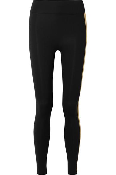 ALL ACCESS Stevie Metallic Striped Stretch Leggings in Black