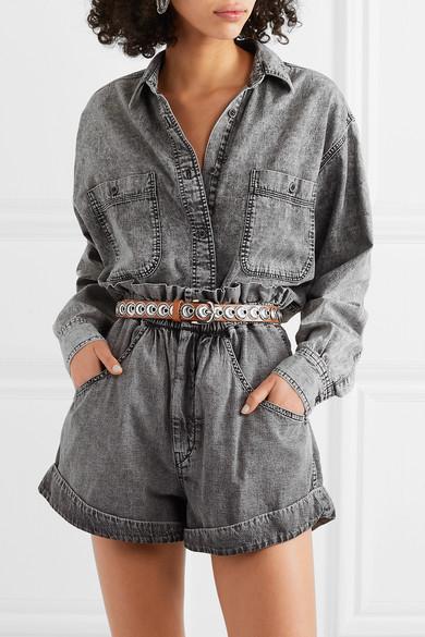 Isabel Marant Belts Zappi embellished leather belt