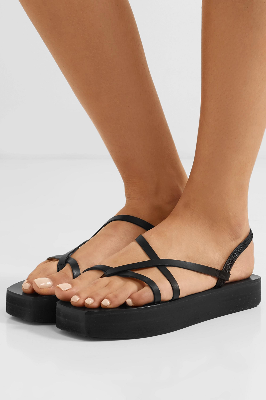ATP Atelier Maremma 皮革厚底凉鞋