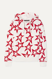 Starlight printed cotton-jersey hoodie