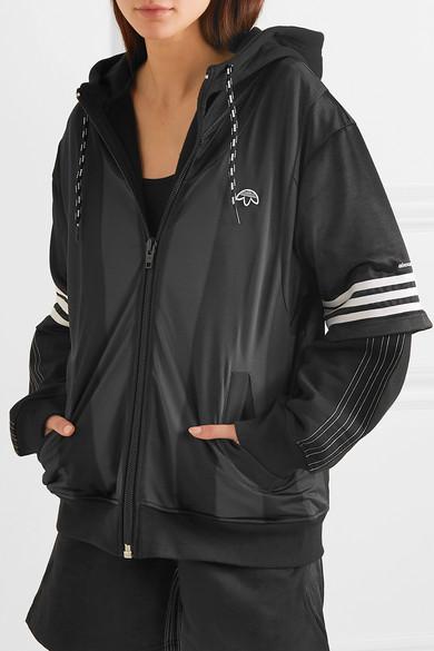 edulliseen hintaan Tarjouskoodi paras paikka adidas Originals By Alexander Wang | Hooded layered fleece ...