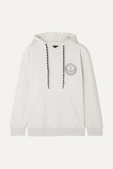 Adidas Originals By Alexander Wang Accessories Appliquéd printed cotton-jersey hoodie