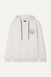 adidas Originals By Alexander Wang Appliquéd printed cotton-jersey hoodie