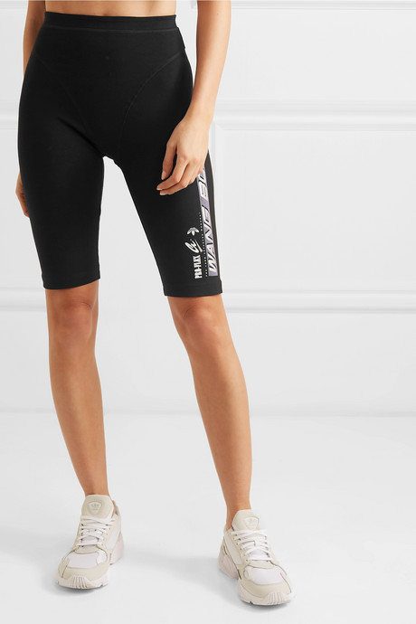 Printed stretch-cotton jersey shorts