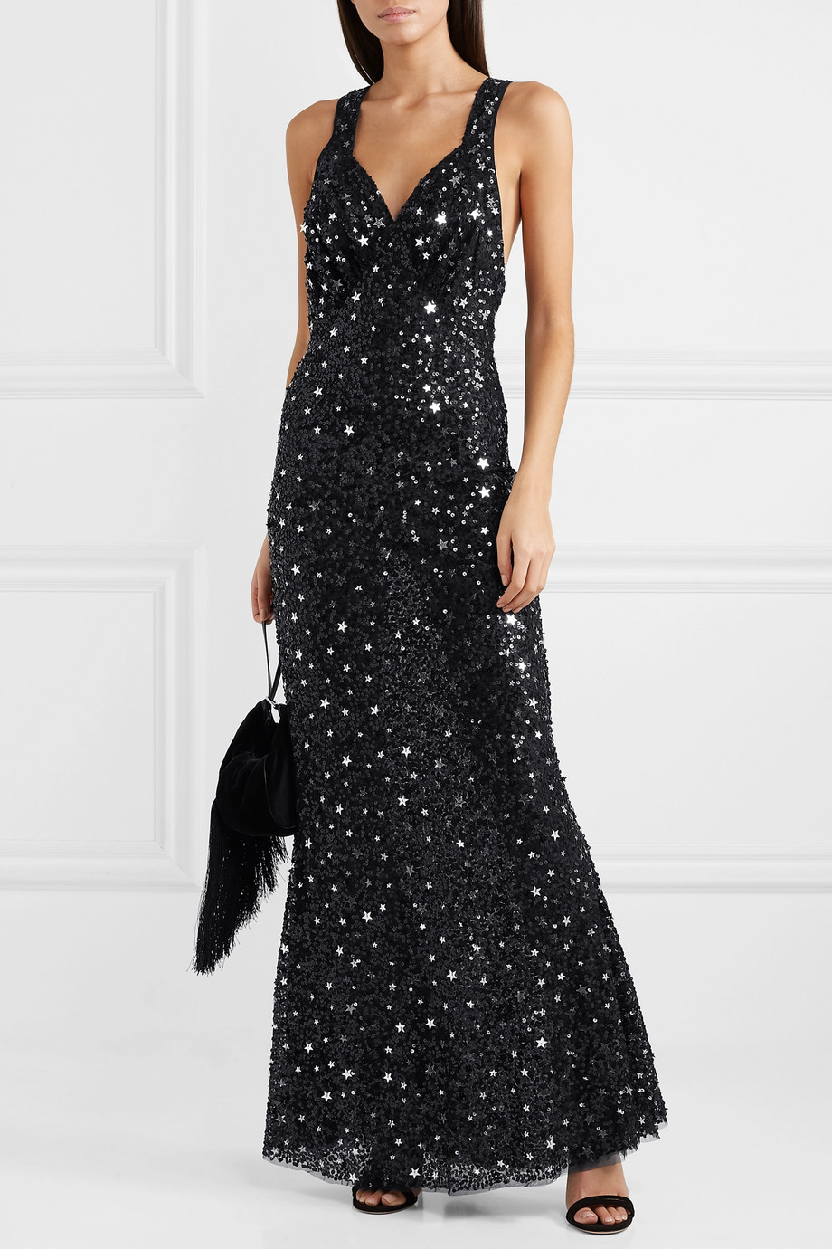 The Attico Sequined tulle maxi dress