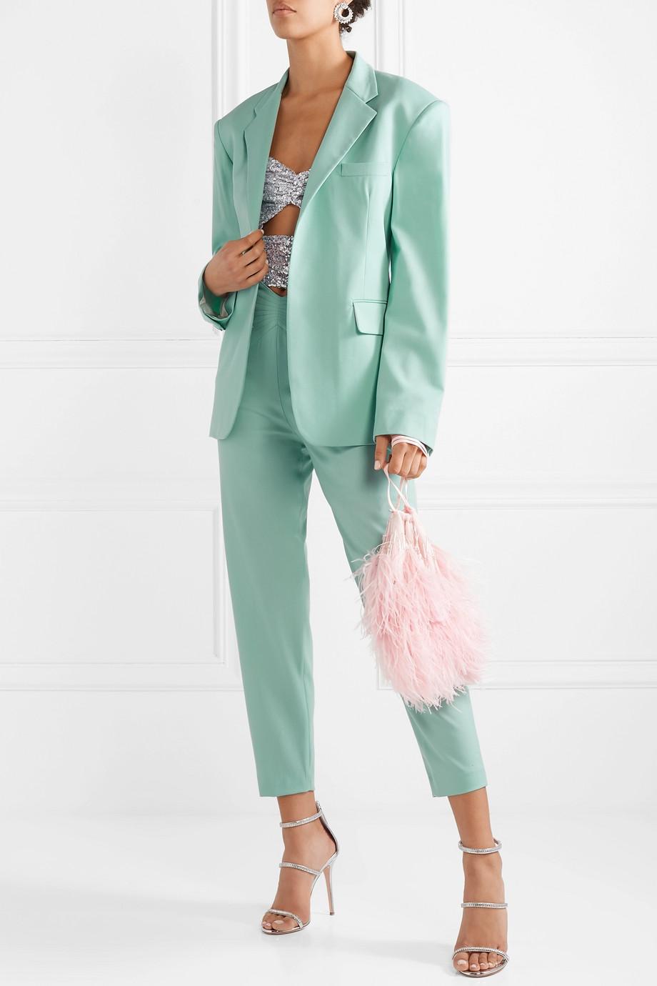 The Attico Wool-blend gabardine blazer