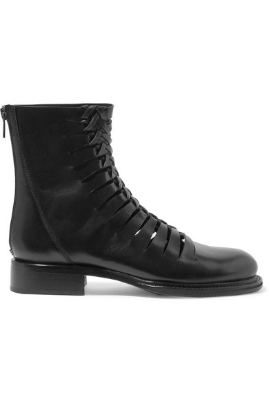 Ann Demeulemeester Leathers Cutout leather ankle boots