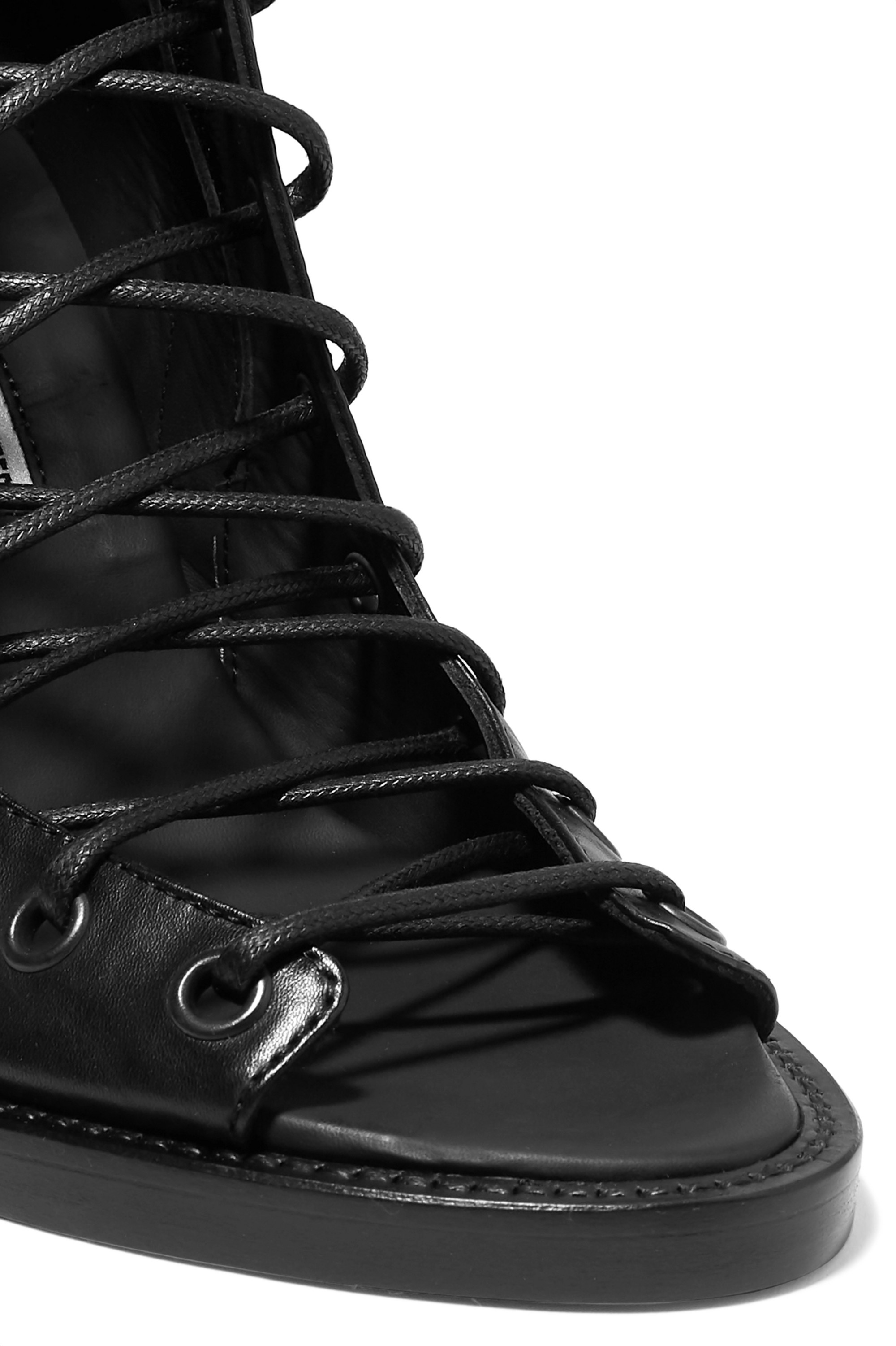 Ann Demeulemeester Lace-up leather ankle boots