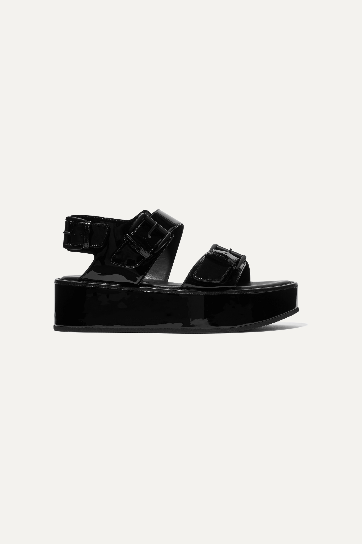 Ann Demeulemeester Buckled patent-leather platform sandals