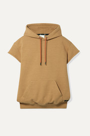 Oversized cotton-terry hoodie