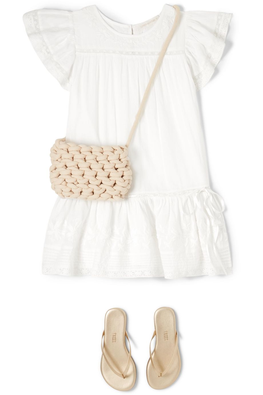 LoveShackFancy Kids Audrey tiered embroidered cotton-voile dress