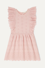 Sylvie ruffled broderie anglaise cotton dress