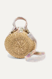 Roxy woven raffia shoulder bag