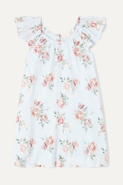 Lou floral-print crinkled-cotton dress