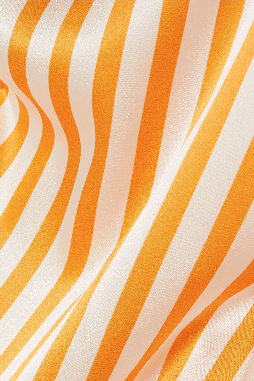 Caroline Constas Onira off-the-shoulder striped silk-satin blouse