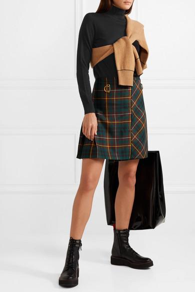 Burberry Tops Intarsia merino wool turtleneck sweater