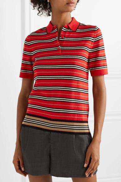 6039003b Burberry   Striped merino wool polo shirt   NET-A-PORTER.COM