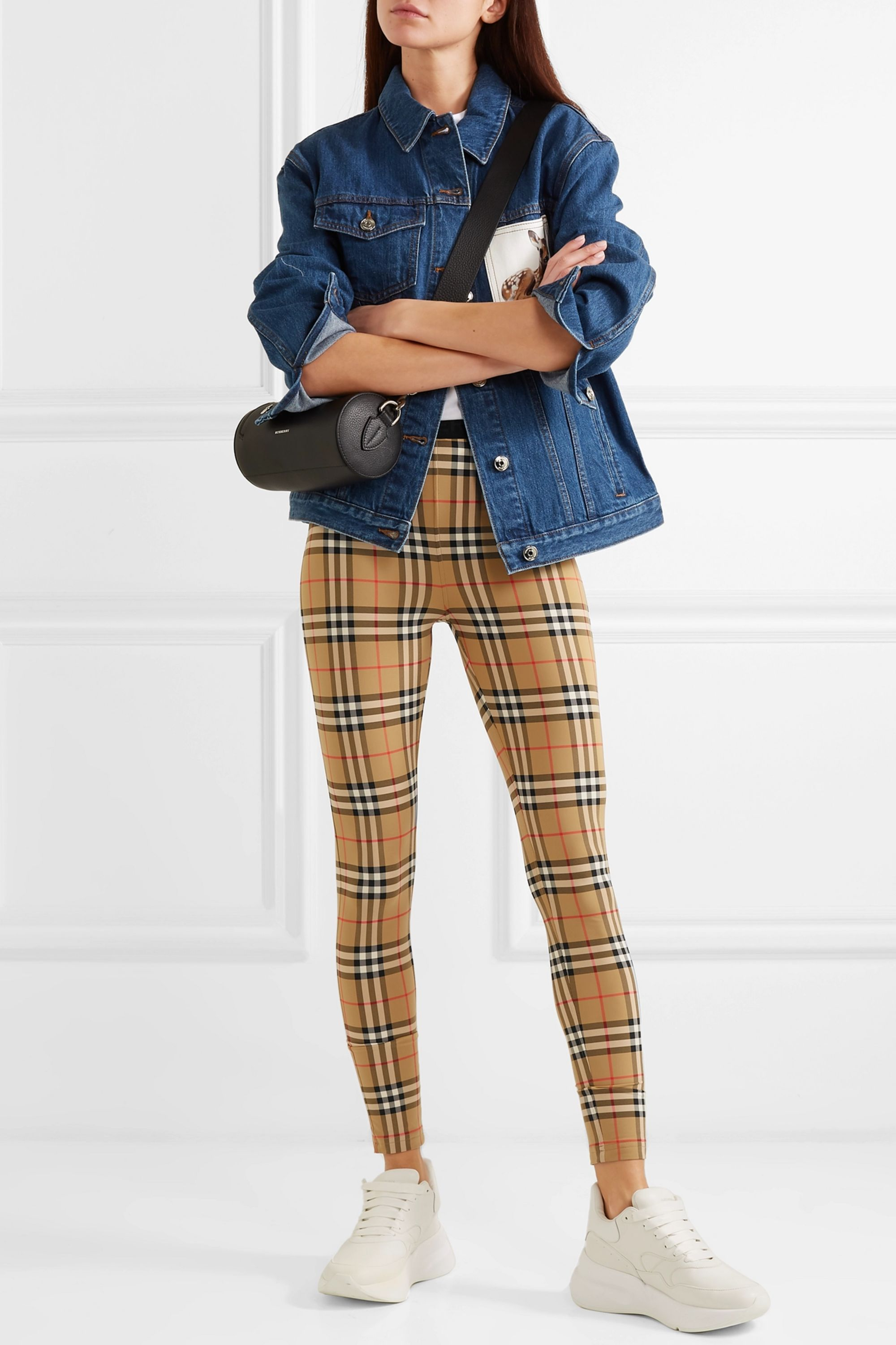 Burberry Checked stretch-jersey leggings