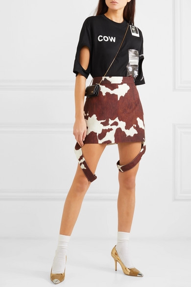 Burberry Skirts Printed cotton and linen-blend mini skirt