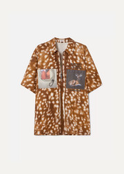 Burberry Oversized printed cotton-twill shirt