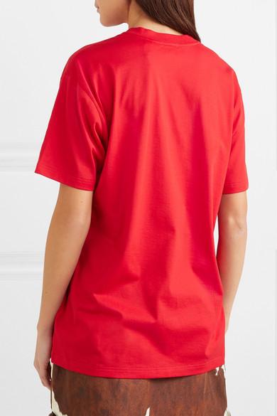 Burberry Shirts Oversized printed cotton-jersey T-shirt