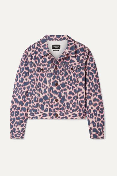 Calvin Klein 205w39nyc Jackets Leopard-print denim jacket