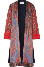 Chloé Oversized silk-blend jacquard coat