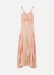 Chloé Ruffled silk-jacquard maxi dress