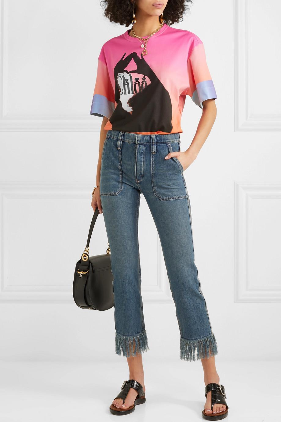 Chloé Verkürzte, halbhohe Jeans mit schmalem Bein