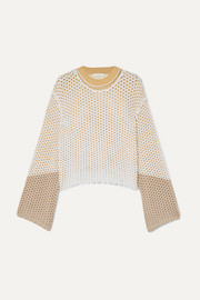 Chloé Layered crochet and open-knit sweater
